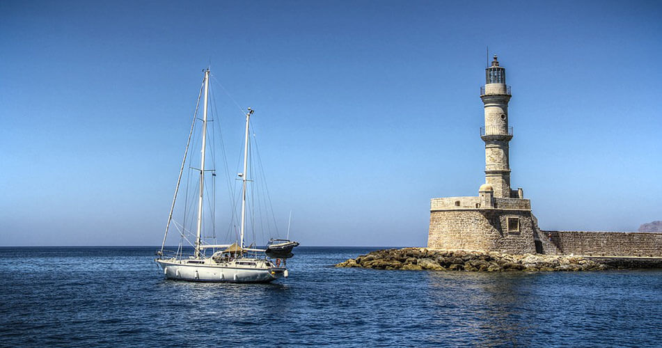 Chania Old Port - Rent a car in Crete with Monza