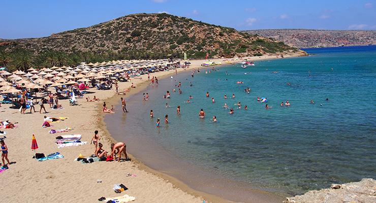 Vai beach in Agios Nikolaos